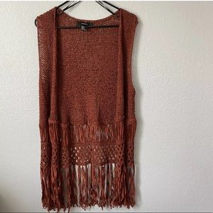 Forever 21 Bohemian Duster Cardigan with Fringe